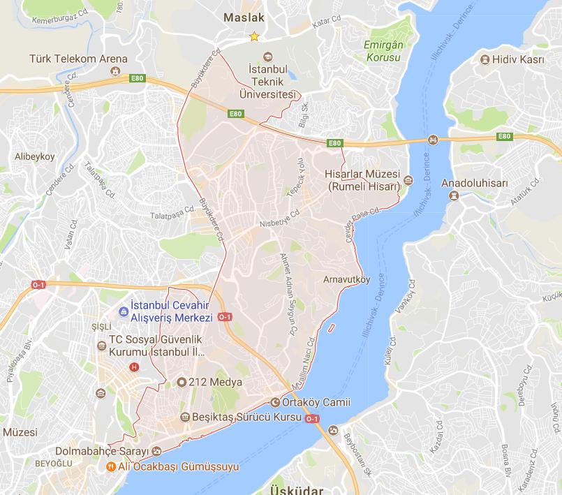 Beşiktaş bölgesinde bulunan sürücü kurslarının pistte sırasıyla sınavı